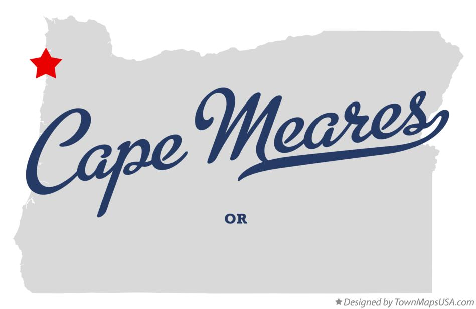 Map of Cape Meares Oregon OR