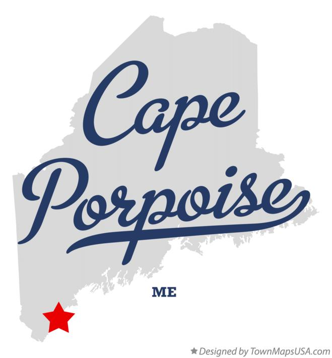 Map of Cape Porpoise Maine ME