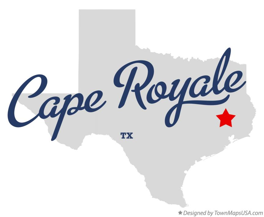 Map of Cape Royale Texas TX