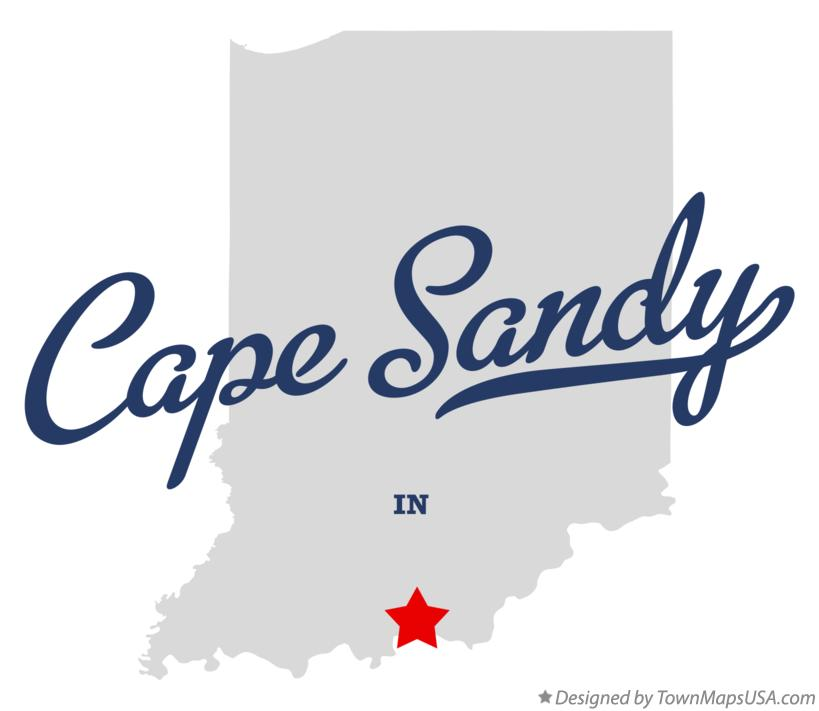 Map of Cape Sandy Indiana IN