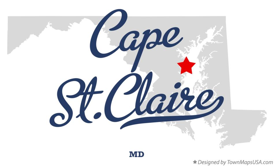Map of Cape St.Claire Maryland MD