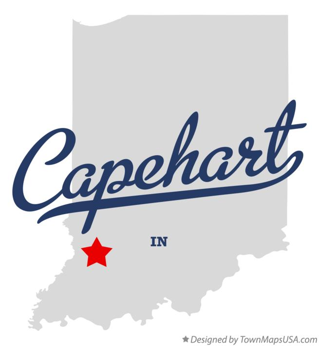 Map of Capehart Indiana IN