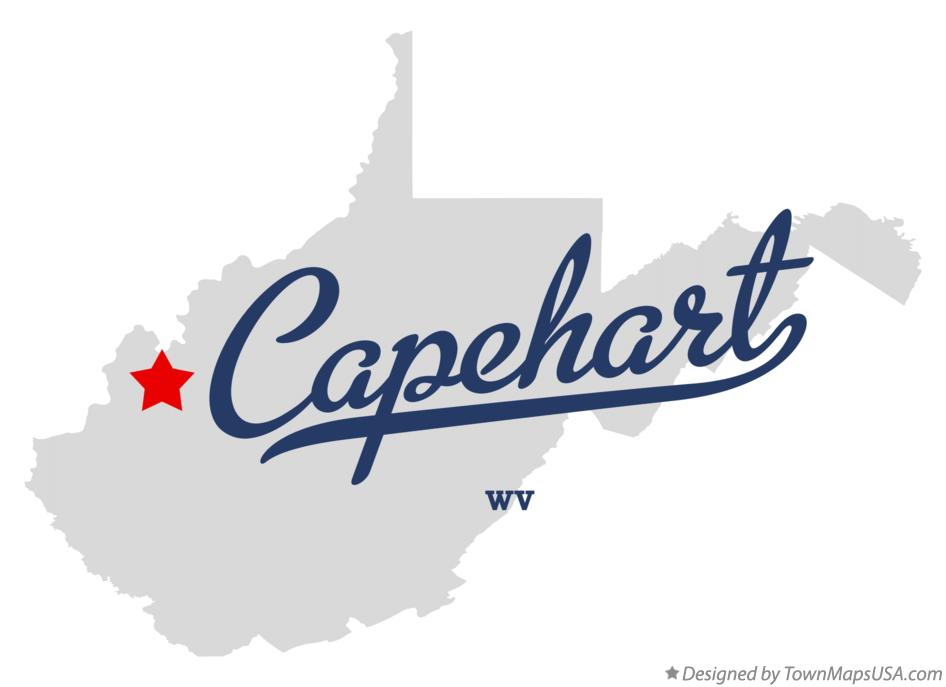 Map of Capehart West Virginia WV