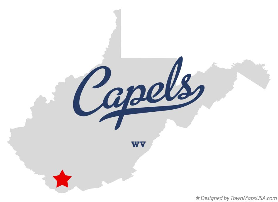 Map of Capels West Virginia WV