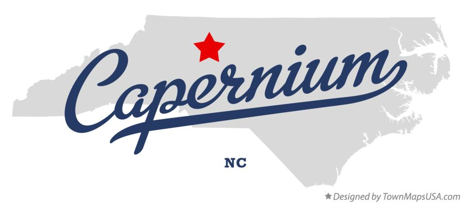 Map of Capernium North Carolina NC