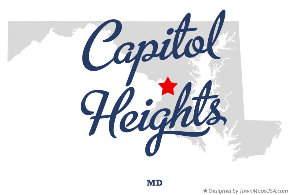Map of Capitol Heights Maryland MD