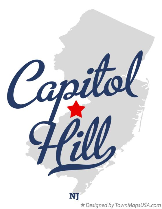 Map of Capitol Hill New Jersey NJ