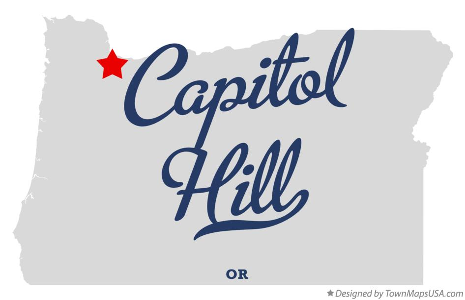 Map of Capitol Hill Oregon OR