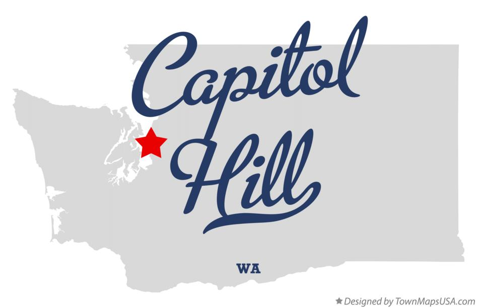 Map of Capitol Hill Washington WA