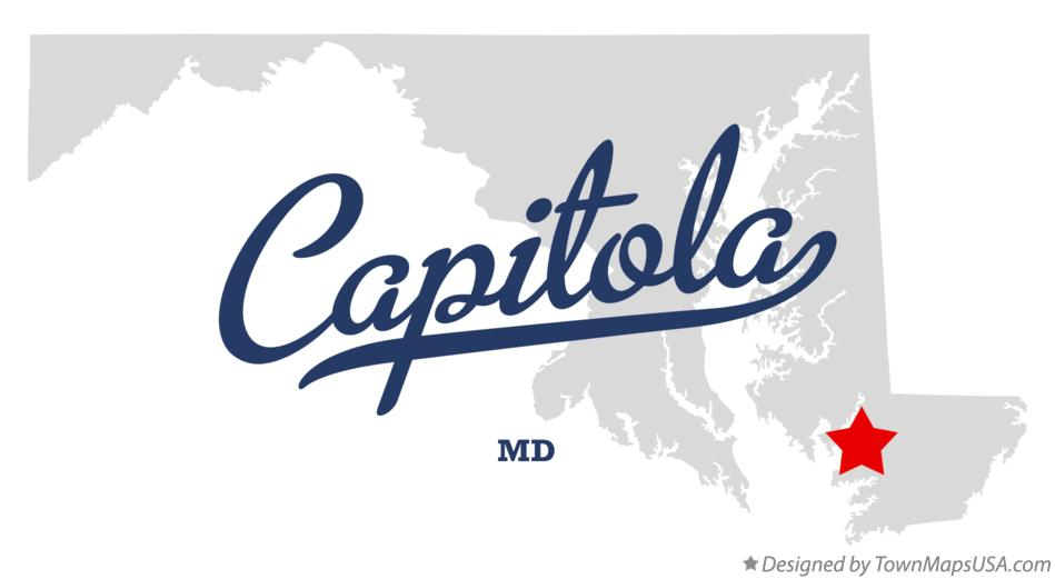 Map of Capitola Maryland MD