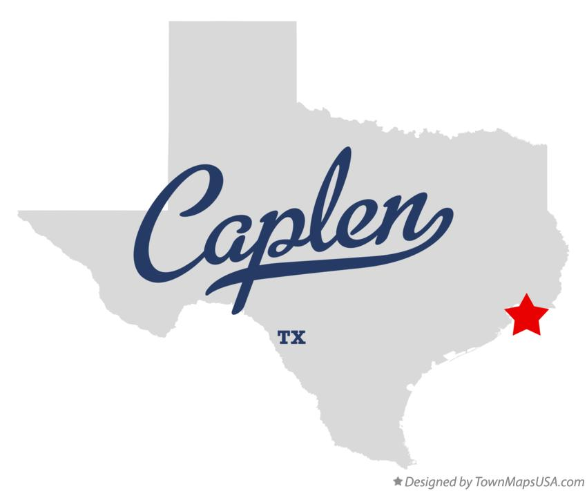 Map of Caplen Texas TX