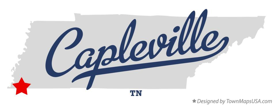 Map of Capleville Tennessee TN