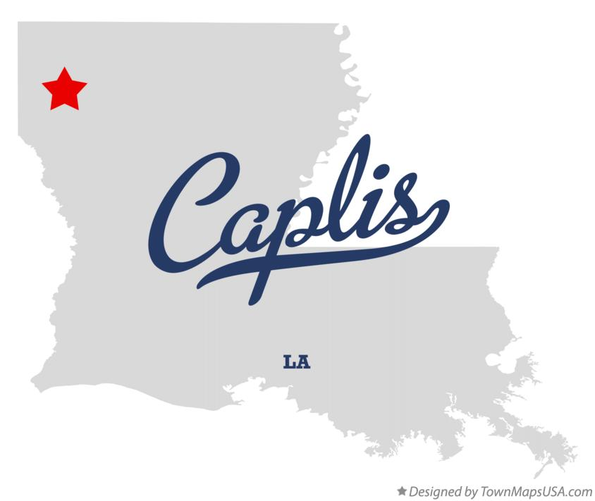 Map of Caplis Louisiana LA