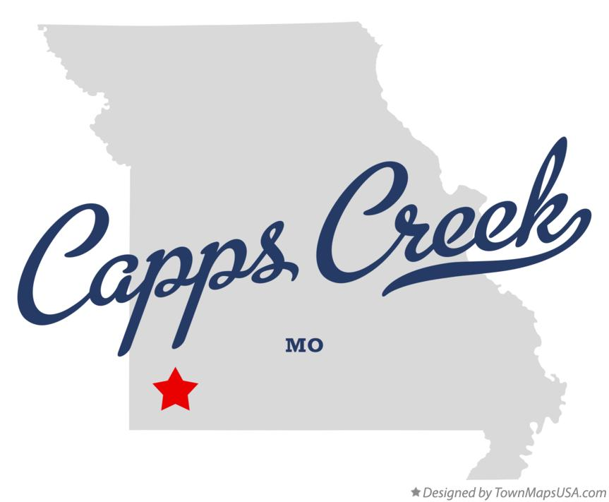 Map of Capps Creek Missouri MO