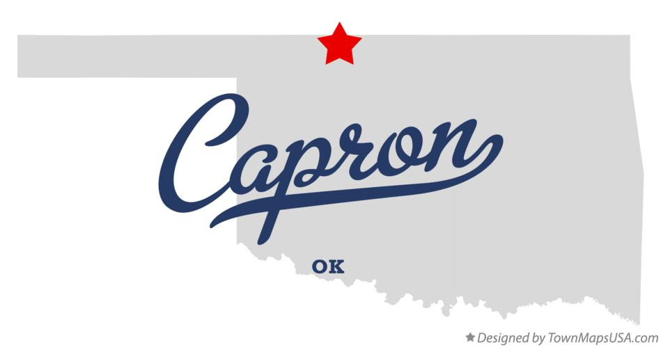 Map of Capron Oklahoma OK