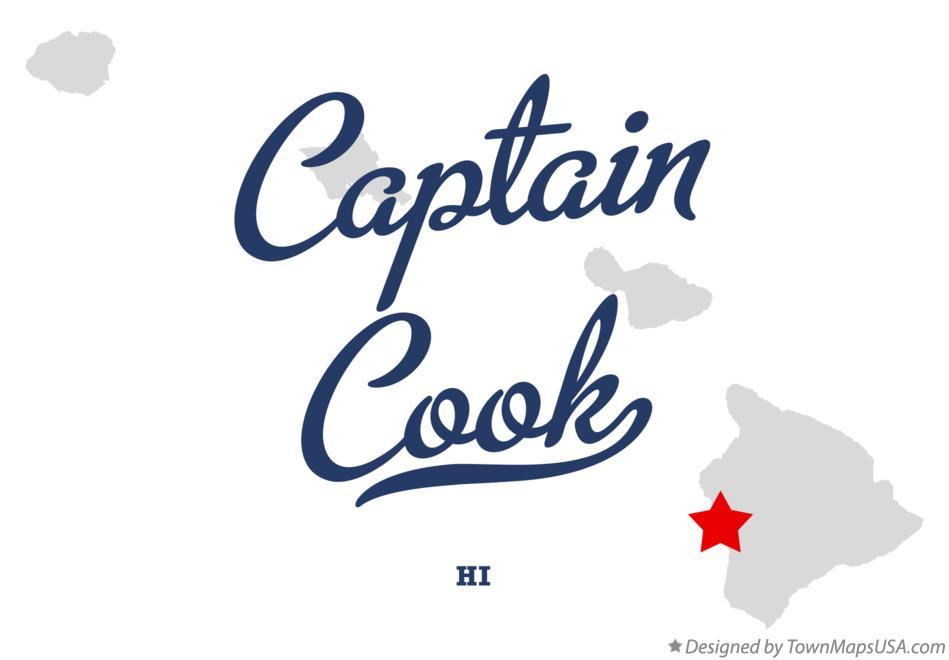 Map Of Captain Cook Hi Hawaii