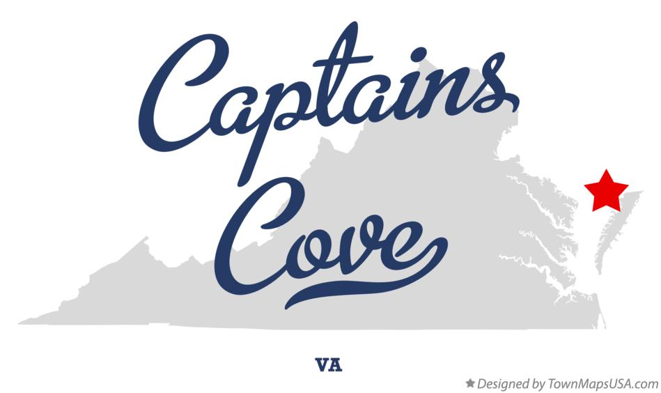 Map of Captains Cove Virginia VA