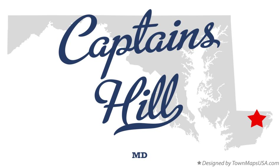 Map of Captains Hill Maryland MD