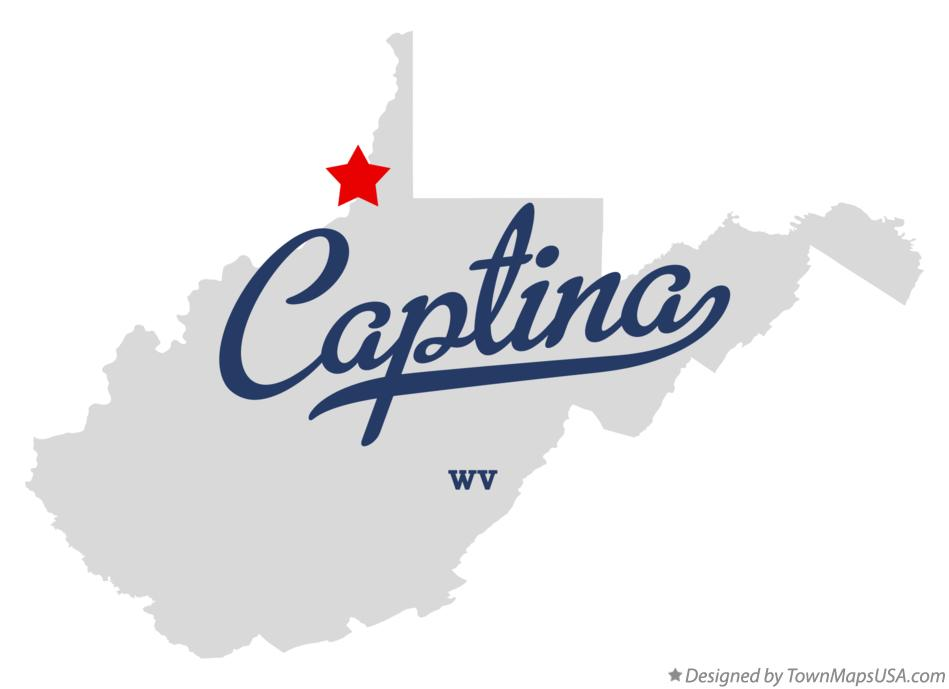 Map of Captina West Virginia WV
