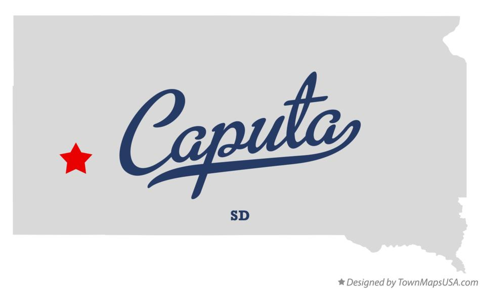 Map of Caputa South Dakota SD