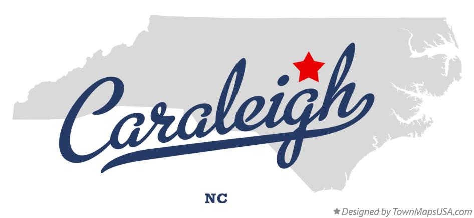 Map of Caraleigh North Carolina NC