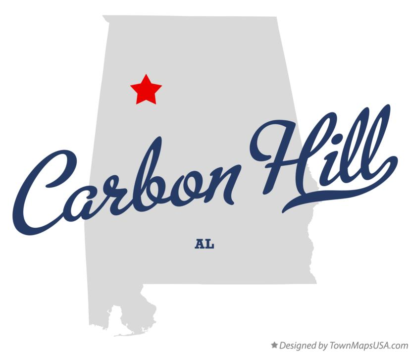 Map of Carbon Hill Alabama AL