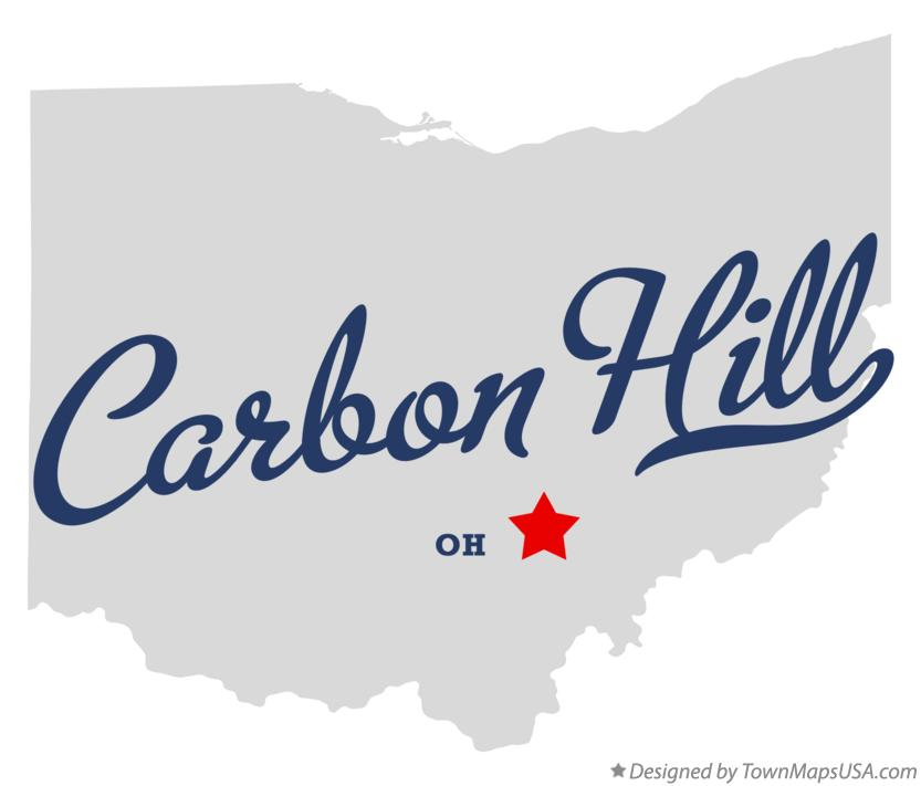 Map of Carbon Hill Ohio OH