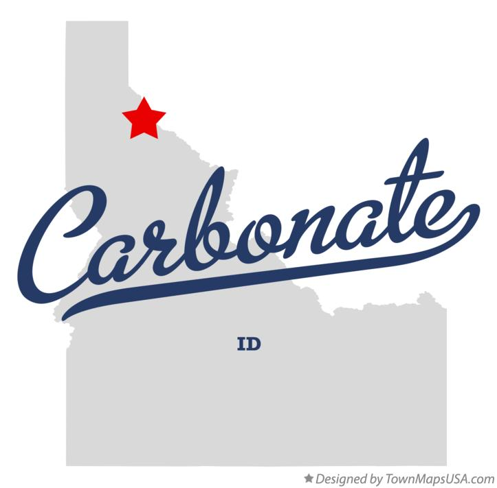 Map of Carbonate Idaho ID