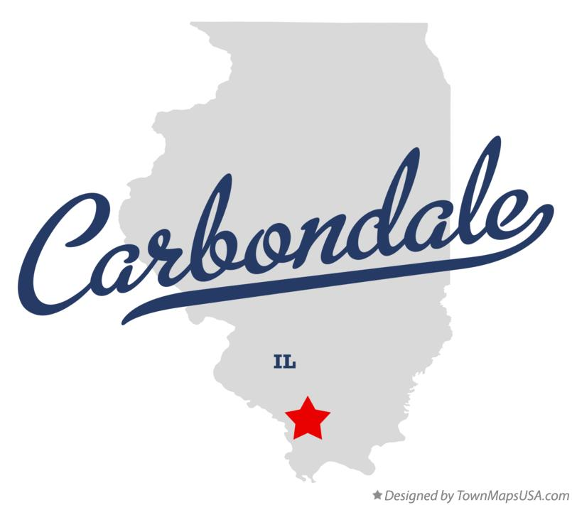 Map of Carbondale, IL, Illinois