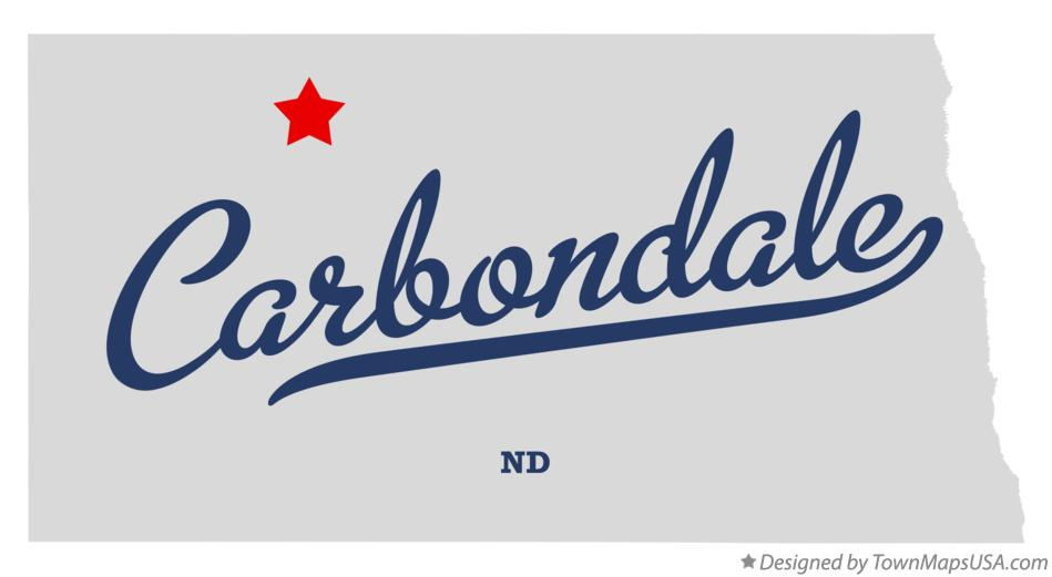 Map of Carbondale North Dakota ND