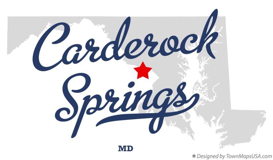Map of Carderock Springs Maryland MD