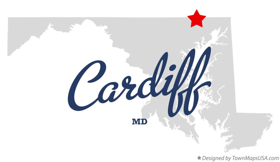 Map of Cardiff Maryland MD