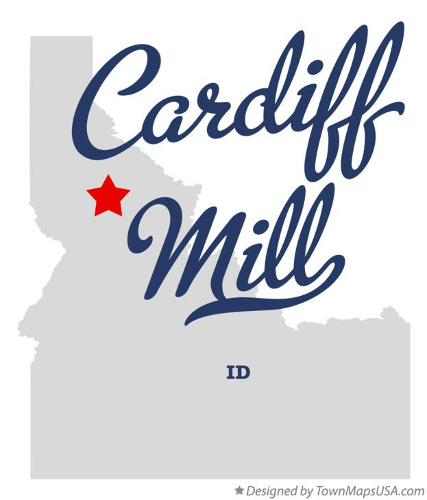 Map of Cardiff Mill Idaho ID