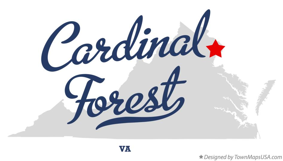Map of Cardinal Forest Virginia VA