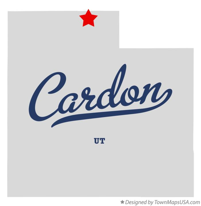 Map of Cardon Utah UT