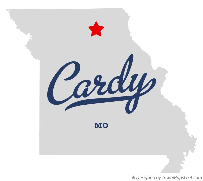 Map of Cardy Missouri MO