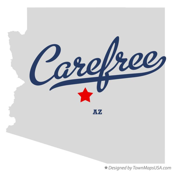Map of Carefree Arizona AZ
