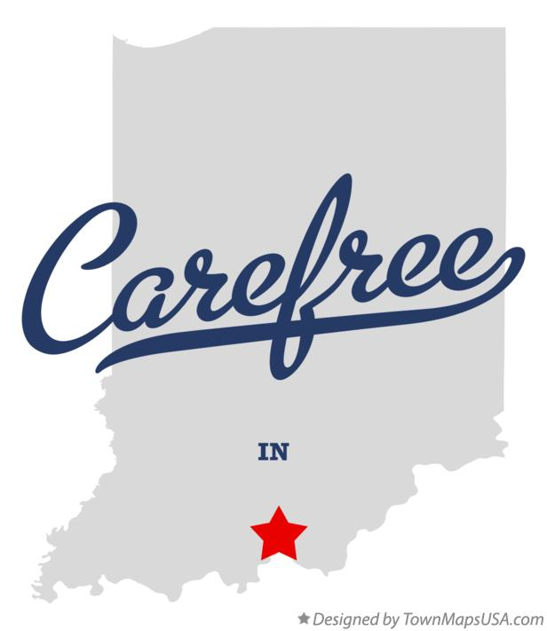 Map of Carefree Indiana IN