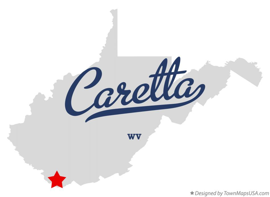 Map of Caretta West Virginia WV