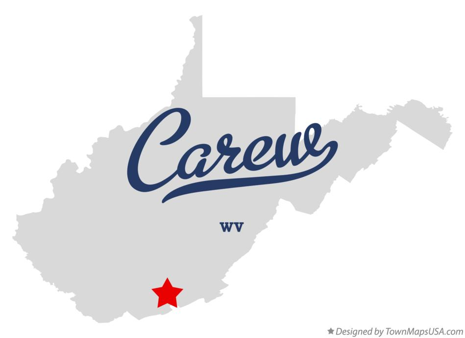 Map of Carew West Virginia WV