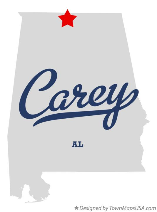 Map of Carey Alabama AL