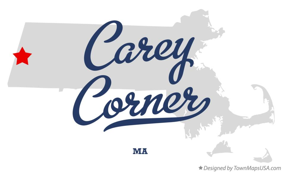 Map of Carey Corner Massachusetts MA