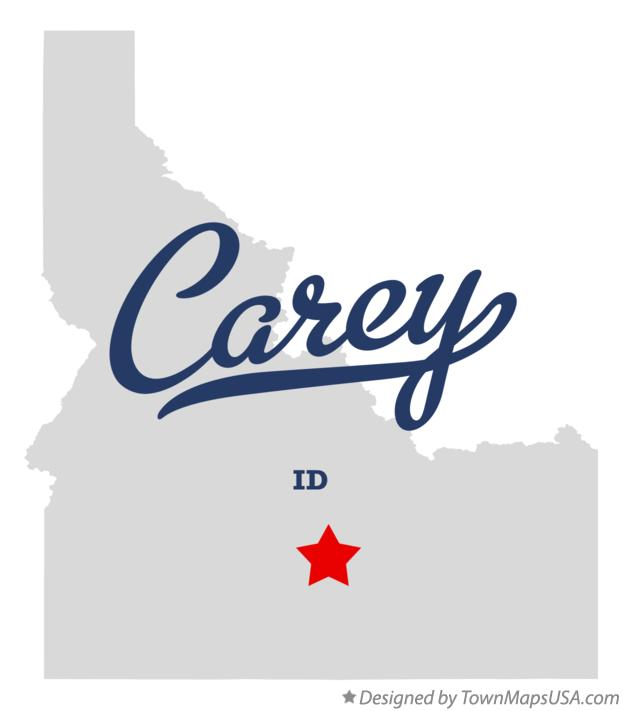 Map of Carey Idaho ID