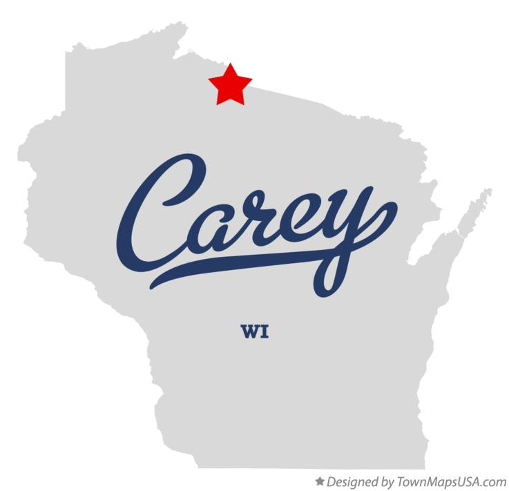 Map of Carey Wisconsin WI