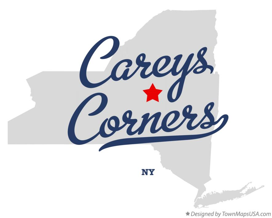 Map of Careys Corners New York NY
