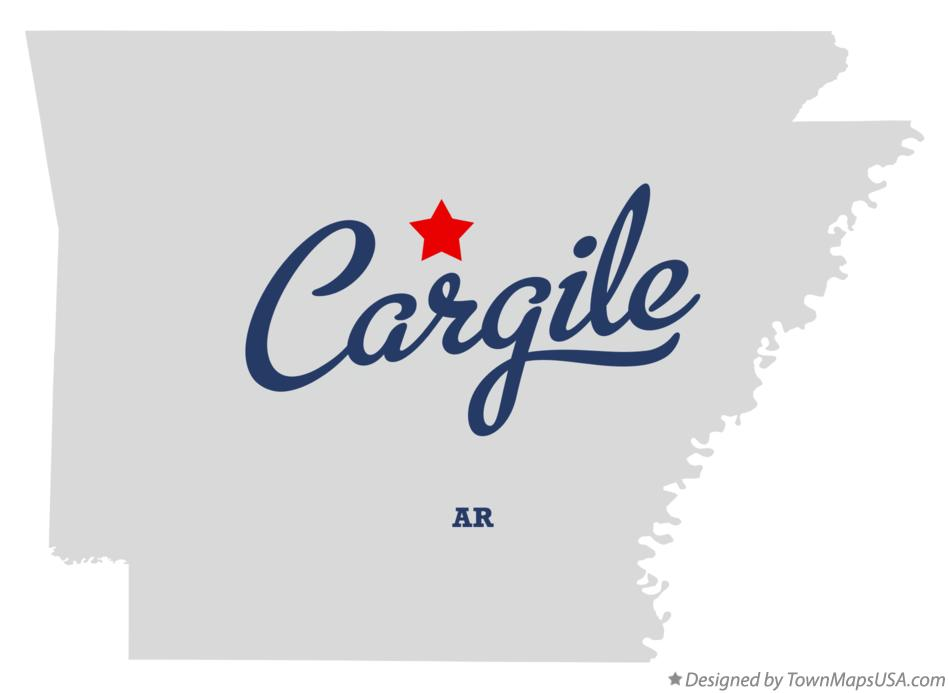 Map of Cargile Arkansas AR