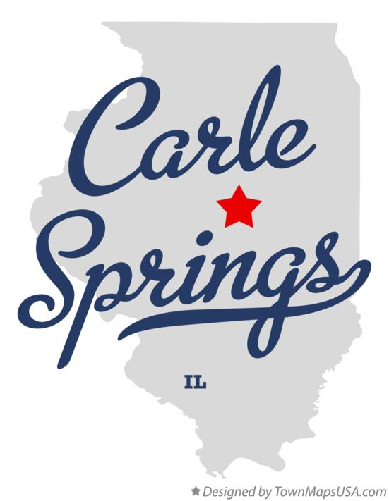 Map of Carle Springs Illinois IL
