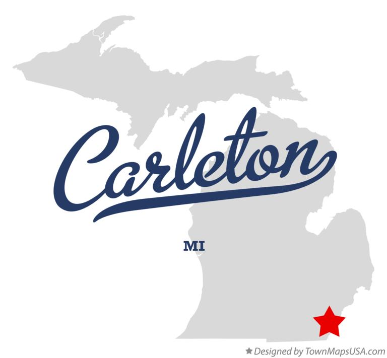 Map of Carleton, MI, Michigan