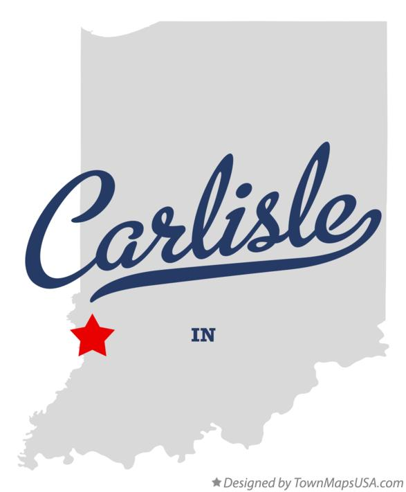 Map of Carlisle Indiana IN
