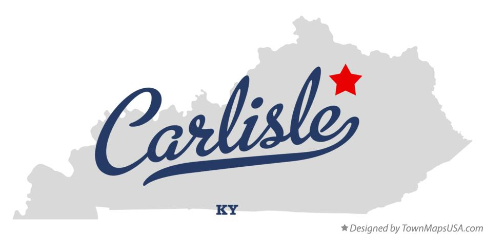 Map of Carlisle Kentucky KY